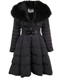 Elisabetta Franchi Black Polyester Outerwear Jacket