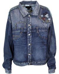 Desigual Blue Cotton Jacket