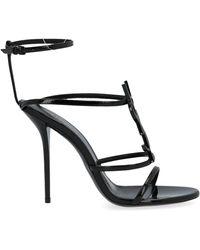Saint Laurent Black Leather Sandals