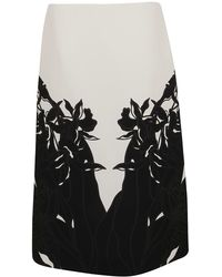 Valentino - Cotton Skirt - Lyst