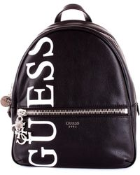 Guess Black Faux Leather Backpack