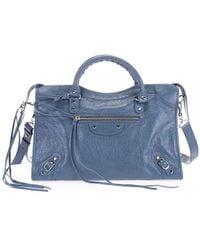 Balenciaga Light Blue Leather Handbag
