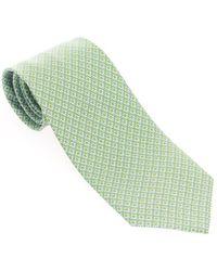 Ferragamo Green Silk Tie