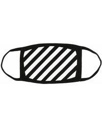 Off-White c/o Virgil Abloh Mundschutz mit diagonalen Streifen - Schwarz