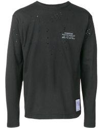 Satisfy Black Cotton T-shirt