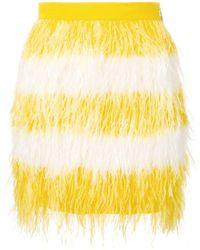 MSGM Viscose Skirt - Yellow