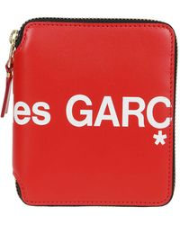 Comme des Garçons Red Huge Logo Zip-around Wallet