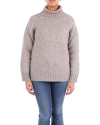 Alpha Studio Gray Wool Sweater