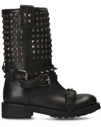 Ash Leather Boots - Black