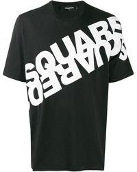 DSquared² BAUMWOLLE T-SHIRT - Schwarz