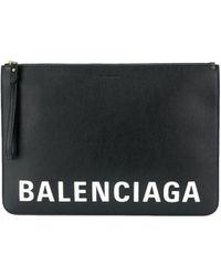 Balenciaga Leather Pouch - Black