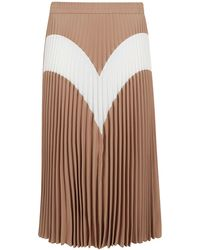 MSGM Beige Polyester Skirt - Natural