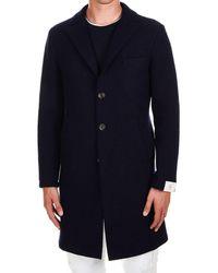 Eleventy Blue Wool Coat