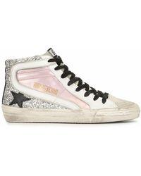 Golden Goose Deluxe Brand Leather Hi Top Trainers - Pink