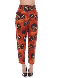 Stella Jean Polyester Trousers - Red