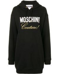 Moschino - Black Cotton Dress - Lyst