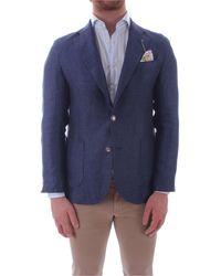 Fefe Blue Linen Blazer