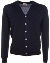 Brooksfield Blue Wool Cardigan