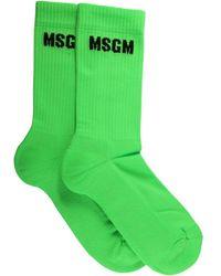 MSGM 3142mds10321798435 andere materialien söcken - Grün