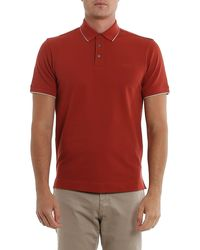 Z Zegna Cotton Polo Shirt - Red
