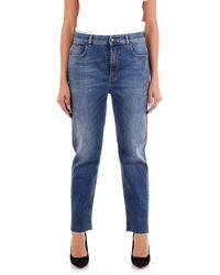 Manila Grace I9zj041d3 Cotton Jeans - Blue