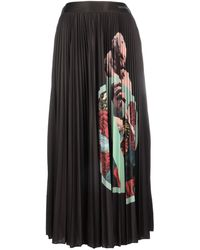 Valentino X Undercove Kiss Pleated Skirt - Black