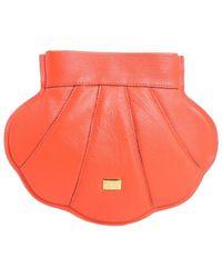 Boutique Moschino Orange Leather Shoulder Bag