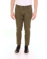 Michael Coal - Green Cotton Trousers - Lyst