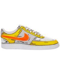 Nike LEDER SNEAKERS - Gelb