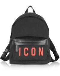 DSquared² Black Polyamide Backpack