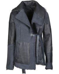 DROMe Furry Loose Jacket - Blue