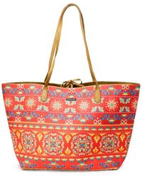 Desigual Red Faux Leather Tote