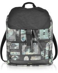 Paul Smith Black Synthetic Fibers Backpack