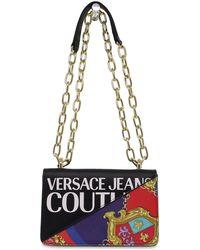 Versace Jeans Couture ANDERE MATERIALIEN SCHULTERTASCHE - Schwarz
