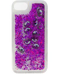Chiara Ferragni Eyes Glitter Iphone & Case - Purple