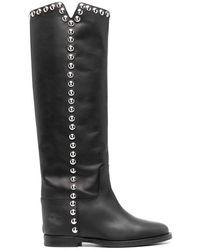 Via Roma 15 3619 Leather Boots - Black