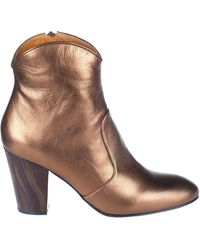 Chie Mihara - Bronze Leather Ankle Boots - Lyst
