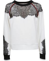 Pinko White Cotton Sweatshirt