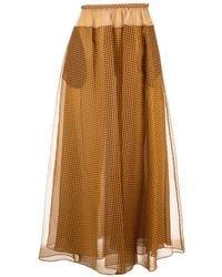Fendi Silk Skirt - Brown