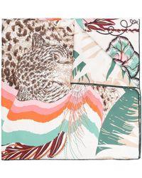 Ferragamo Foulard con stampa Rainbow - Bianco