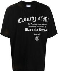 Marcelo Burlon County Degree T-Shirt - Schwarz