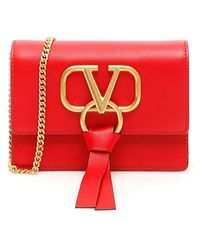 Valentino Red Leather Shoulder Bag