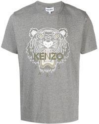 KENZO T-Shirt mit Tiger - Grau