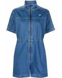 adidas Adicolor Denim Jumpsuit - Blue
