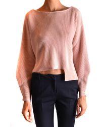 Pinko Pink Wool Jumper