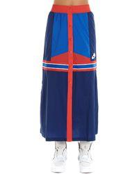 Nike Blue Polyamide Skirt