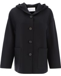Harris Wharf London Wool Coat - Black