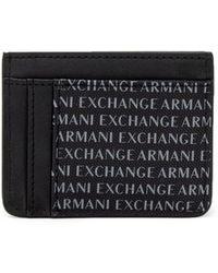 Armani Exchange Black Polyester Wallet