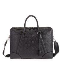Ferragamo Black Leather Briefcase