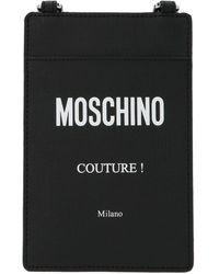 Moschino Pvc Document Holder - Black
